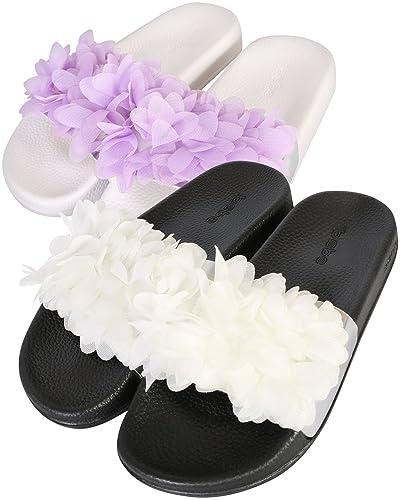 1b381986c6bb bebe Girls 2 Pack Open Toe Slide Sandals