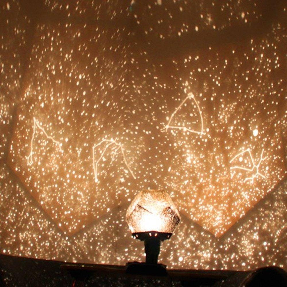 Four seasons star projector lamp - Xinji Season Stars Projector Night Light Diy Led Sky Projection Lamp Yellow