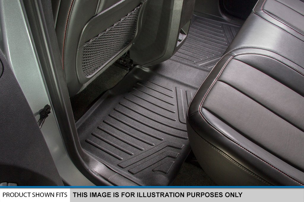 SMARTLINER Floor Mats 2nd Row Liner Black for 2017-2018 Mazda CX-5 MAXLINER B0301