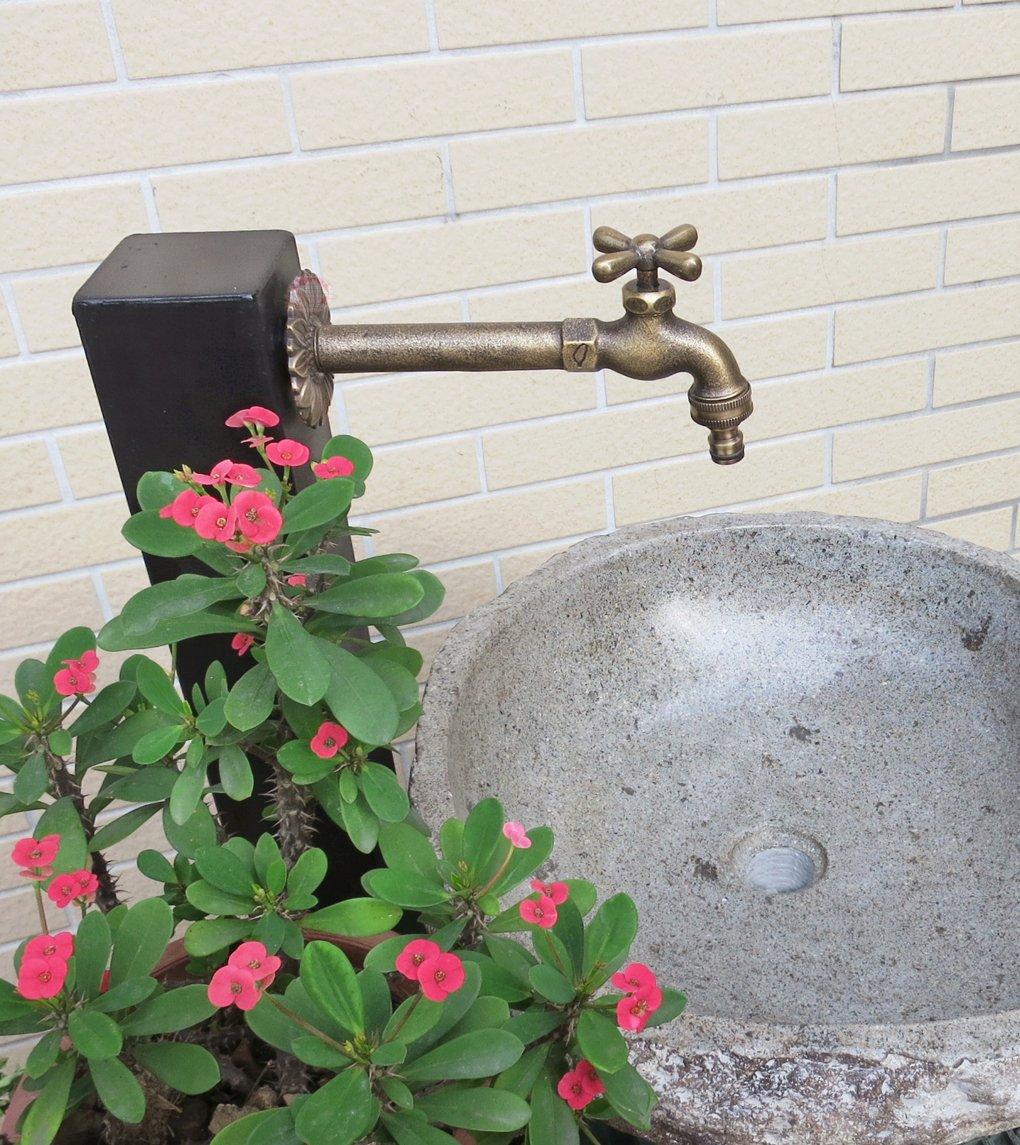 Decorative Solid Brass Cross Garden Outdoor Tap - With a Brass ...