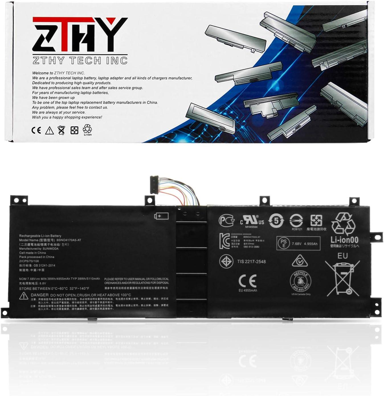 ZTHY New BSNO4170A5-AT 5B10L68713 Battery Replacement for Lenovo Miix 510 520 510-12IKB 520-12IKB 20M3000LGE Miix5 pro Series Laptop LH5B10L67278 5B10L67278 BSNO4170A5-LH 7.68V 38WH 4955mAh