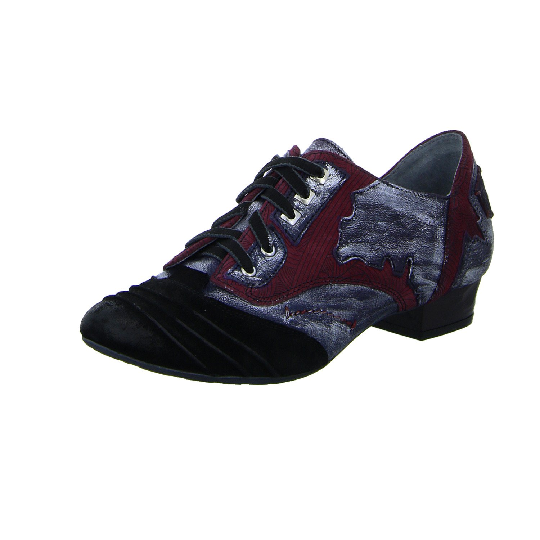 Maciejka Zapatos de Cordones Para Mujer 39 EU blau/bordeaux-komb