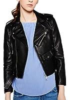 Women's Bright Colors Washed PU Leather Jacket Zipper Ladies Basic Short Jackets Coat
