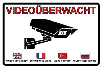 Videouberwachung Videouberwacht Achtung Video Aufkleber