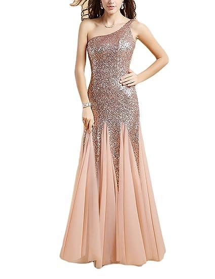 dfb23da2e4a2d OYISHA Women's Long Sequin Mermaid Prom Dresses Strapless Sweetheart  Evening Pageant Dress Formal SQ38