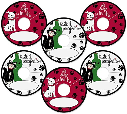 Epic Products Pet Party My Glass Tags Pack of 24 , Multicolor