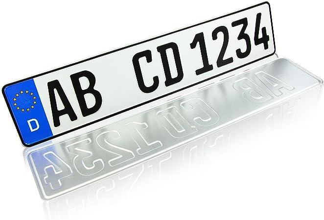 Beste Qualit/ät//Einzeln gepr/ägt und doppelt Foliert 2 St/ück Gepr/ägt Autoschilder Nummernschilder Autoschilder //// Wunschkennzeichen //// Saison //// H Historisch //// E Elektro //// Kennzeichen 520x110mm