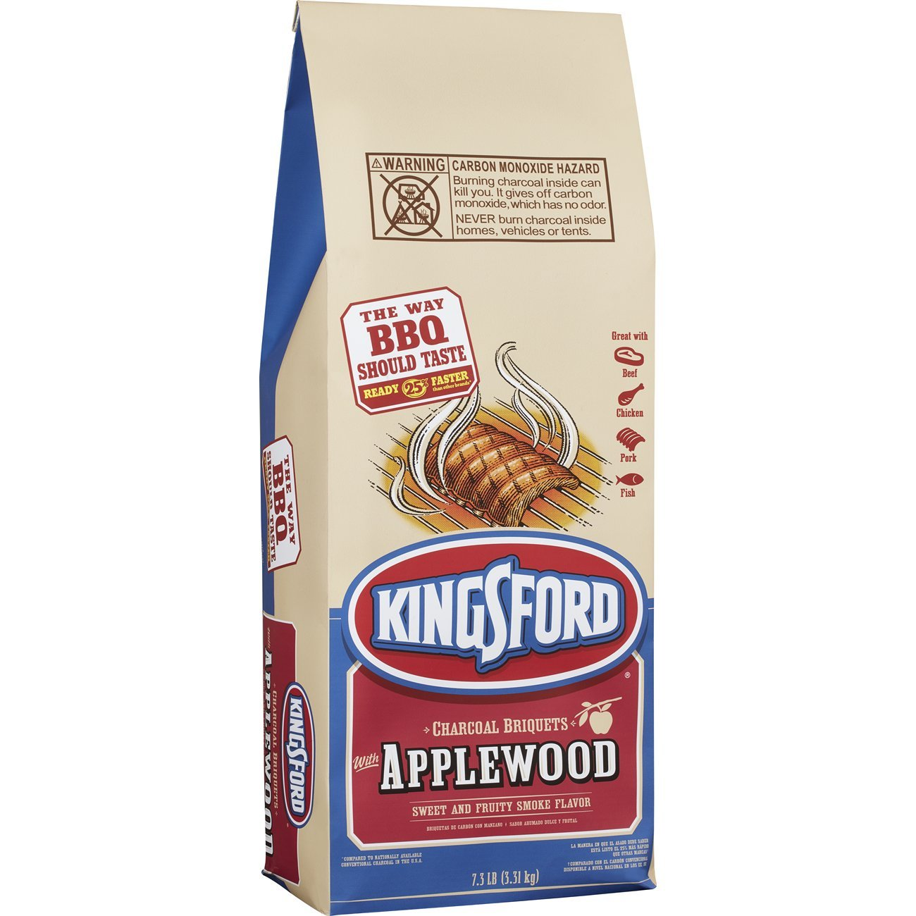 Kingsford Original Charcoal Briquettes with Applewood, 7.3 Pounds