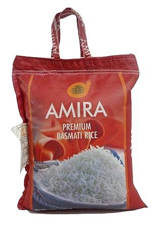 Amira Premium Arroz Basmati no tejida bolsa, 10 Libra ...