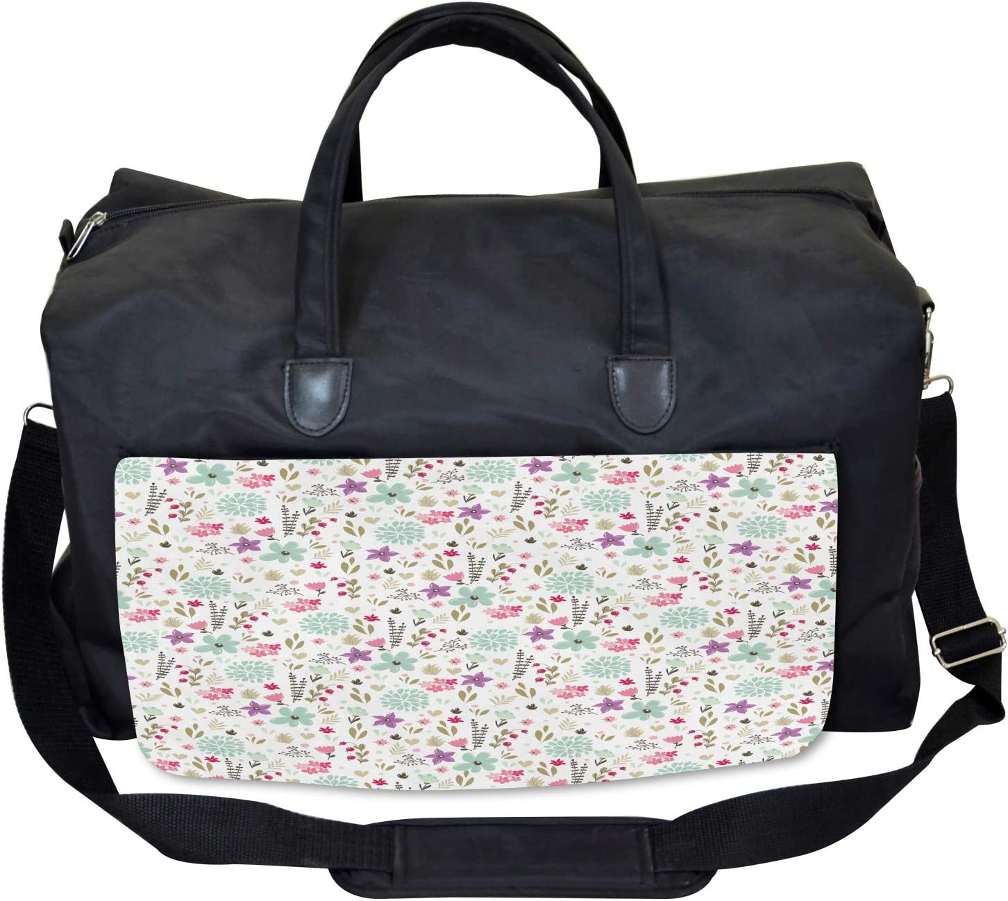 Large Weekender Carry-on Country Nature Leaf Ambesonne Shabby Chic Gym Bag