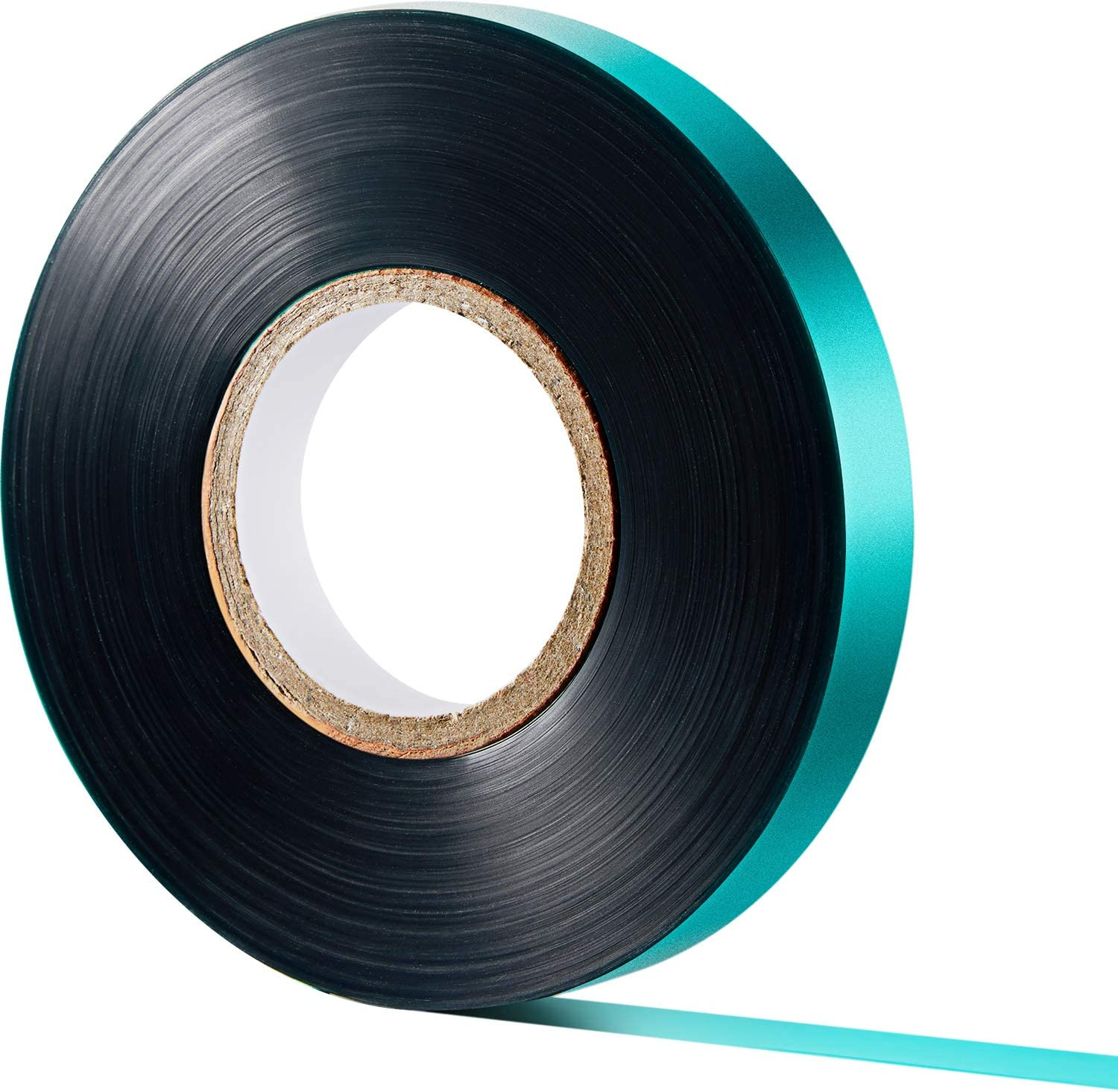 147 ft x 1/2 Inch Stretch Tie Tape 4 mil Thick Garden Plant Ribbon Green Vinyl Stake for Indoor Outdoor Plant Use (1)