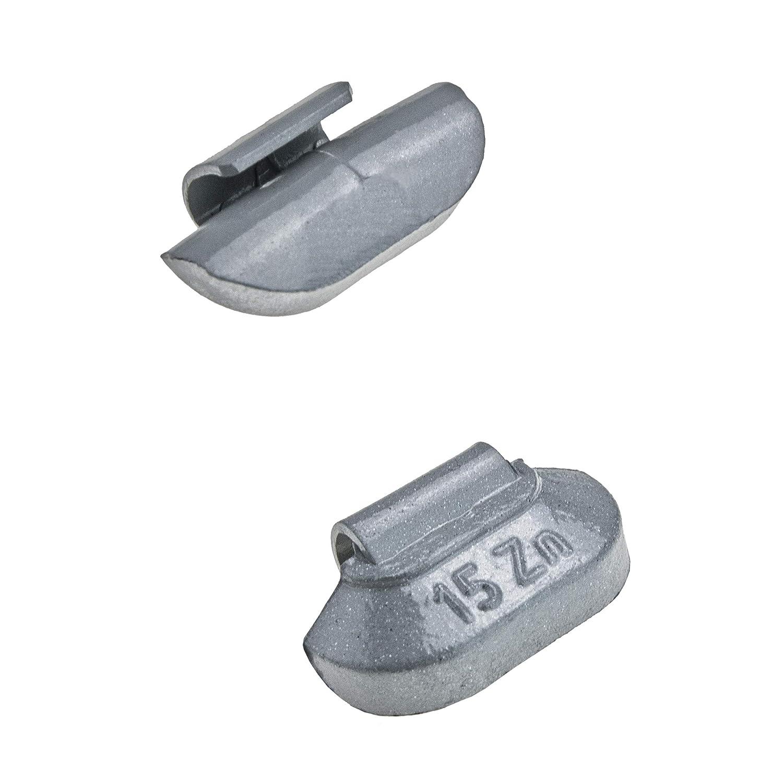Stix 50x Schlaggewichte Stahlfelgen Auswuchtgewichte Zink ZN 25g Wuchtgewichte f/ür Stahlfelgen