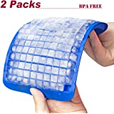 2 Packs 160 Mini Cubes Ice Cube Tray- Flexible DIY Molds Maker, BPA Free (Blue)
