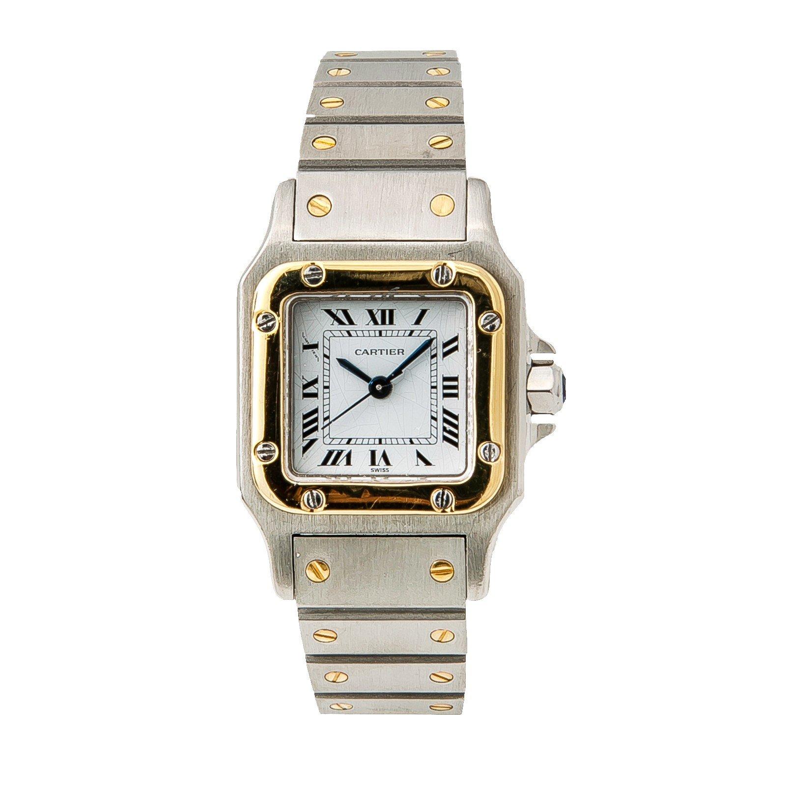 Cartier Santos Galbee quartz womens Watch 1567 (Certified Pre-owned)