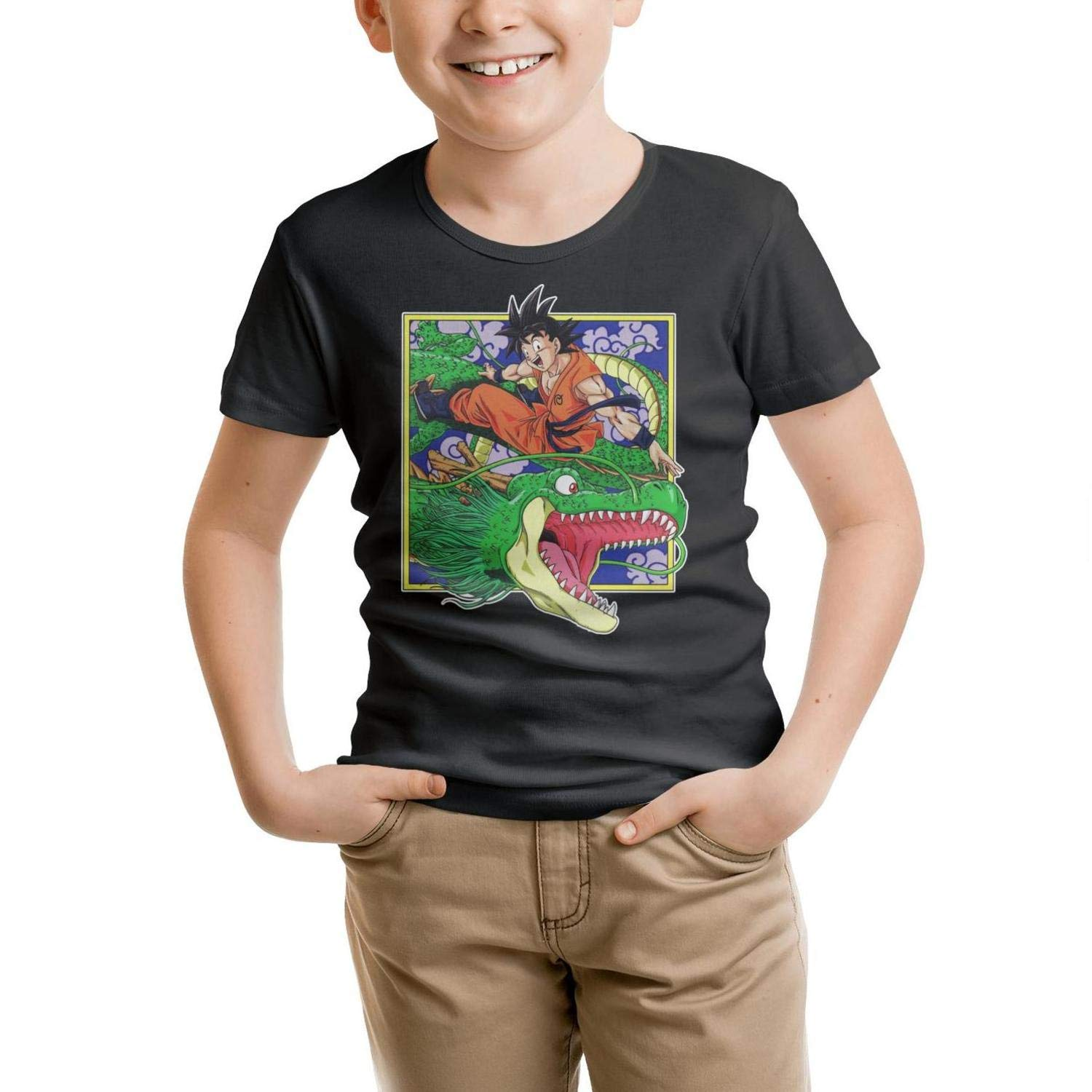 DYONG Short Sleeve Crew Neck Tshirt for Boys Fit Awesome Summer Tees