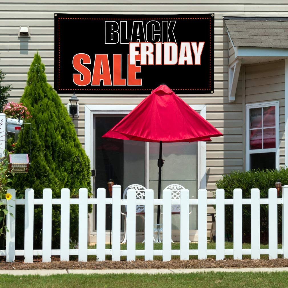 Vinyl Banner Multiple Sizes Black Friday Sale A Advertising Printing Retail Outdoor Weatherproof Industrial Yard Signs 10 Grommets 60x144Inches