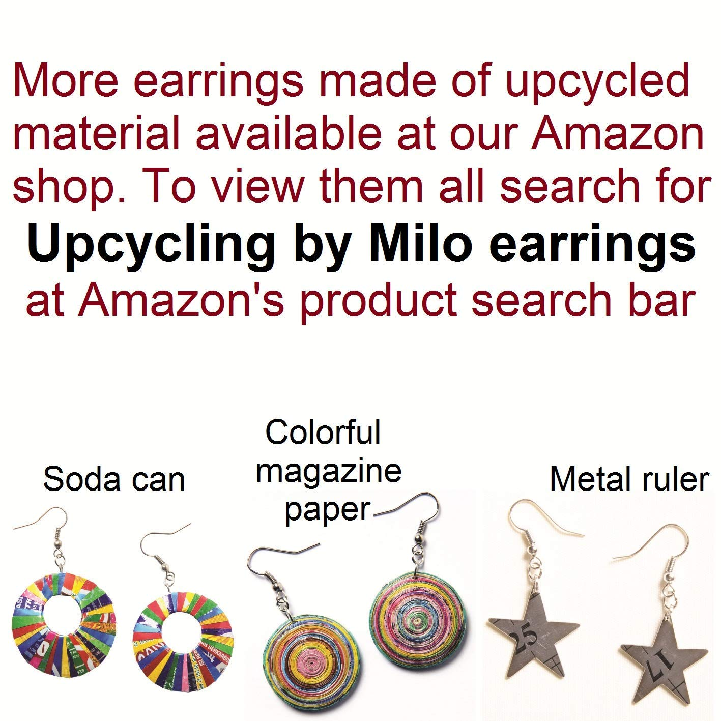 Copper Colored Aluminum Pointed Teardrop Earrings Upcycled Recycled Aluminum Light Weight Soda Can Earrings