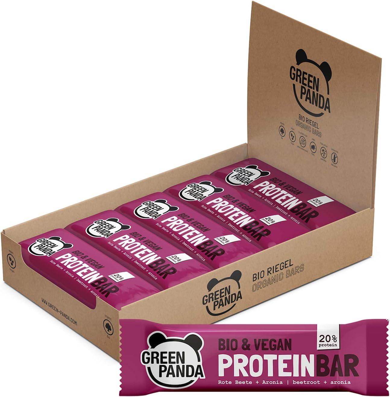 Barritas proteicas veganas sin azúcar con mas del 20% de proteínas vegetales (proteínas de semillas de calabaza, cáñamo y semillas de girasol), 3 sabores diferentes (Remolachas y Aronia)