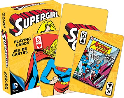 Amazon.com: Supergirl jugando a las cartas: Toys & Games