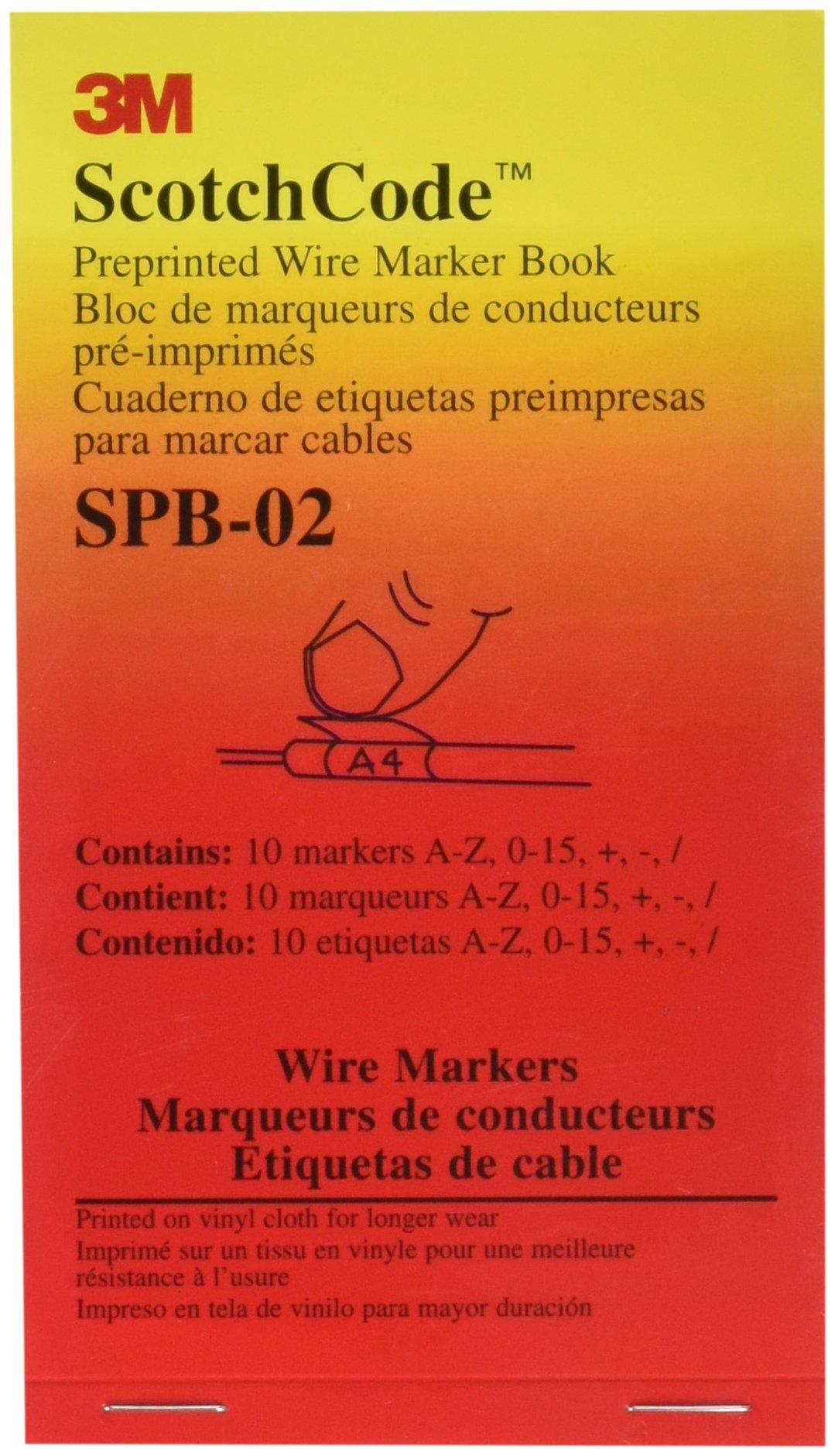 3M ScotchCode Pre-Printed Wire Marker Book