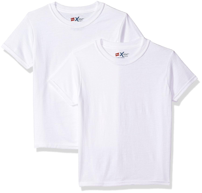 Hanes Big Boy's Ultimate X-Temp 2 Pack Crew T-Shirt BUX36W