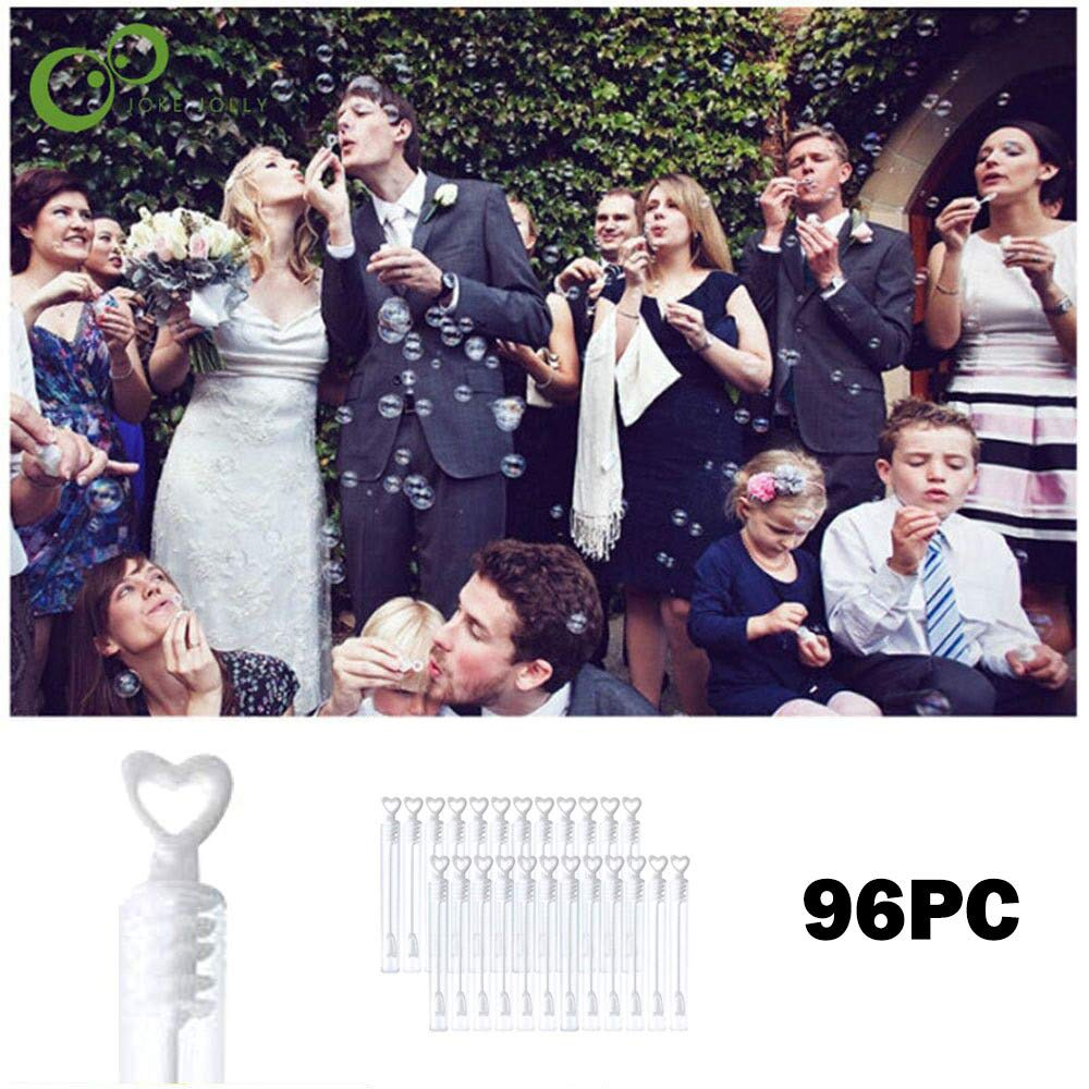 Finebuying 96 St/ück Seifenblasenflaschen Leere Seifenblasenflaschen Startseite Hochzeit Weihnachten Geburtstag Partydekorationen Wei/ß
