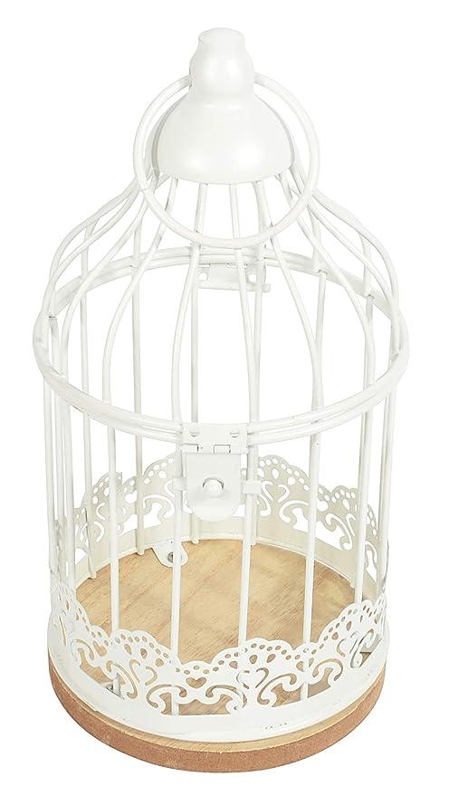 Deko Jaula para pájaros Decorativa de Metal, con Placa de Madera ...