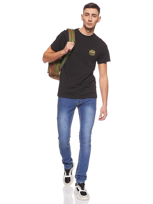 Vans Holder Street II T-Shirt 2019 Black/Old Gold: Amazon.es ...