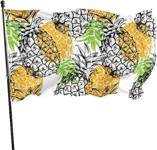 LZHANDA Jardín Banderas Decoración de Exterior, Outdoor New Yellow Pineapple Garden Flag, Yard Flag - 3 X 5 Ft: Amazon.es: Jardín
