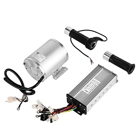 Mophorn 1800W Electric Brushless DC Motor Kit 48V High Speed Brushless  Motor with 32A Speed Controller and Throttle Grip Kit for Go Karts E-bike