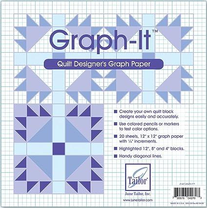 amazon com june tailor graph it graph paper 12 by 12 inch 20 per