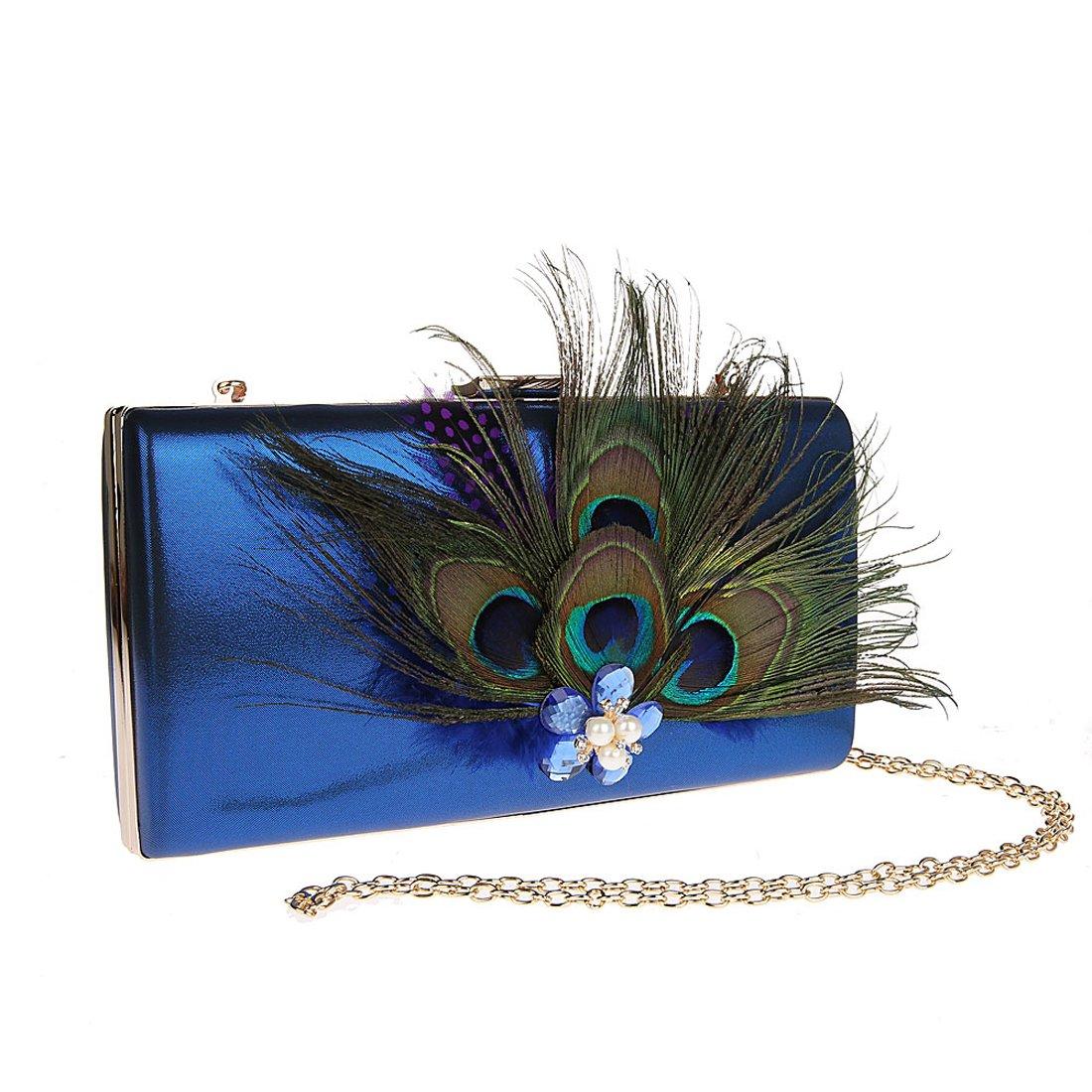 KAXIDY Bolsos de Fiesta Bolsos Ceremonia Clutches Para Carteras de Mano Bolsos Vestir Fiesta (Azul): Amazon.es: Zapatos y complementos