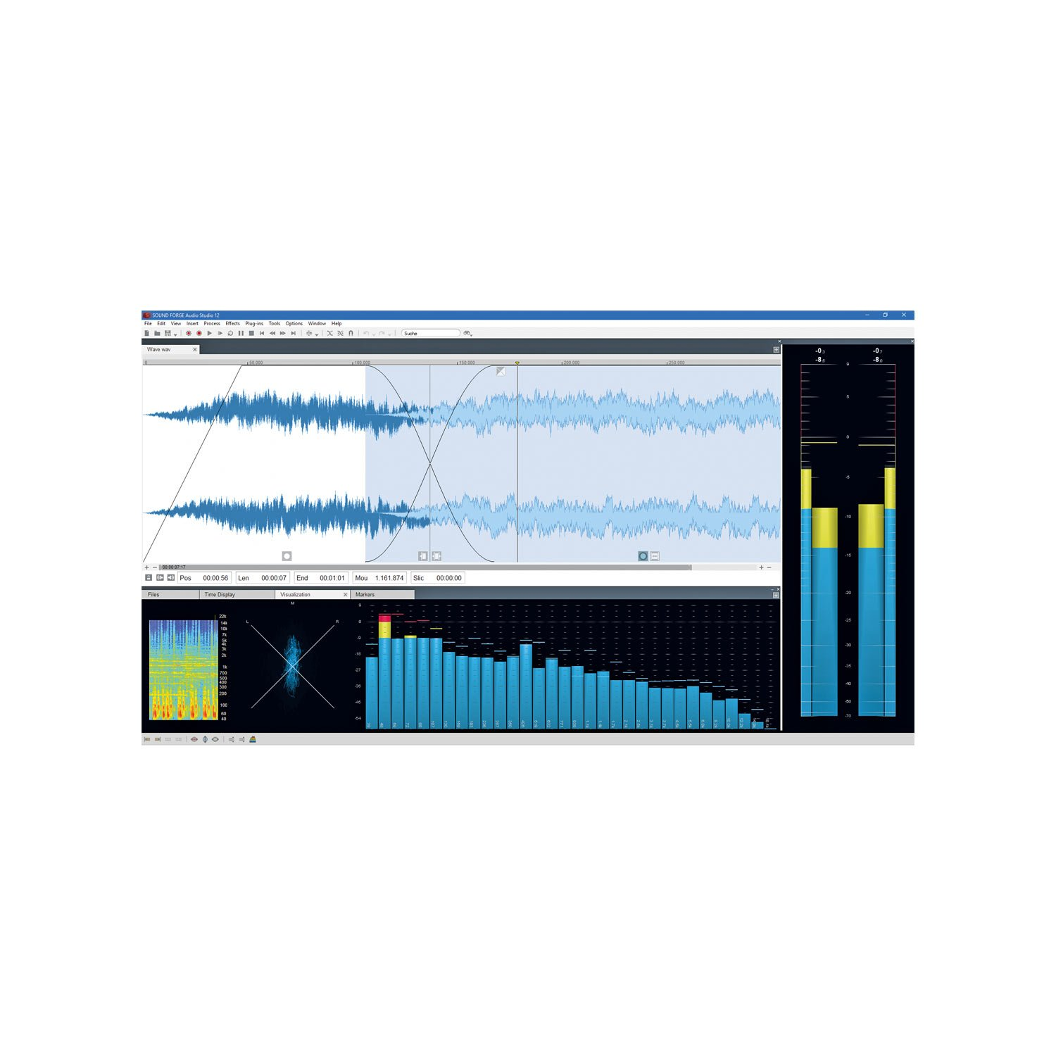 SOUND FORGE Audio Studio - Version 12 - audio editor including mastering plug-in by Sound Forge (Image #3)