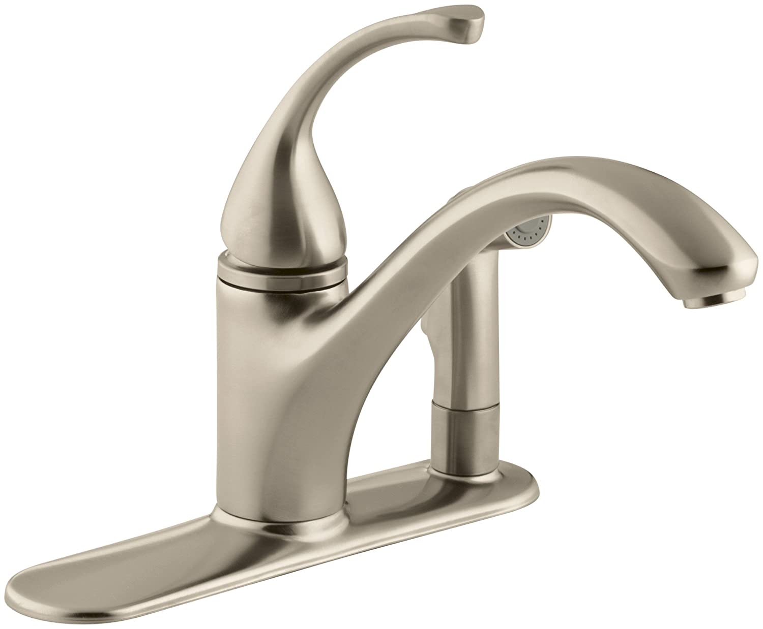 KOHLER K-10413-CP Forte Single Control Kitchen Sink Faucet, Polished ...