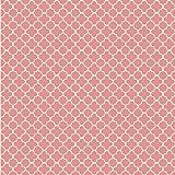 York Wallcoverings WA7821 Waverly Classics Framework Wallpaper, Coral/Ecru