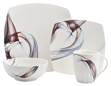 Mikasa 5223389 4 Piece Kya Porcelain Place Setting, White