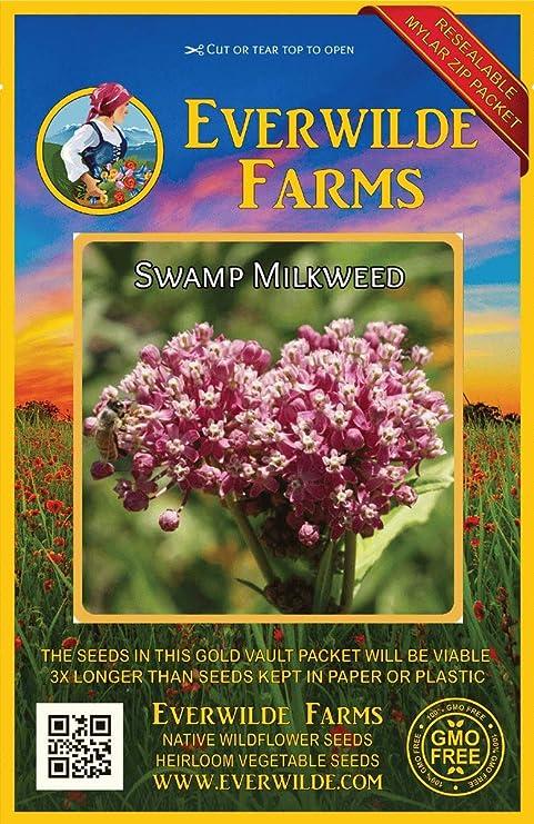 1 Oz Common Milkweed Wildflower Seeds Everwilde Farms Mylar Seed Packet
