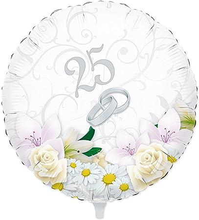 Anniversario Matrimonio Venticinquesimo.Palloncino 25 Anni Di Matrimonio Anniversario Venticinquesimo