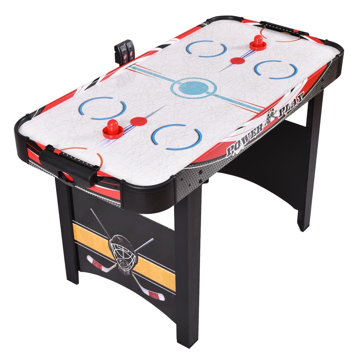 Goplus 48'' Air Powered Hockey Table Indoor Sports Game Electronic Scoring Red Puck for Kids