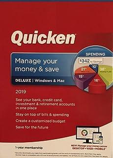 Amazon com: Quicken Deluxe 2019 Personal Finance & Budgeting