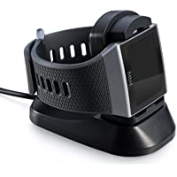 for Fitbit Ionic Charger Charging Stand, Charging Dock Station Cradle Holder Accessory with 1m USB Cable for Fitbit Ionic Smart Watch