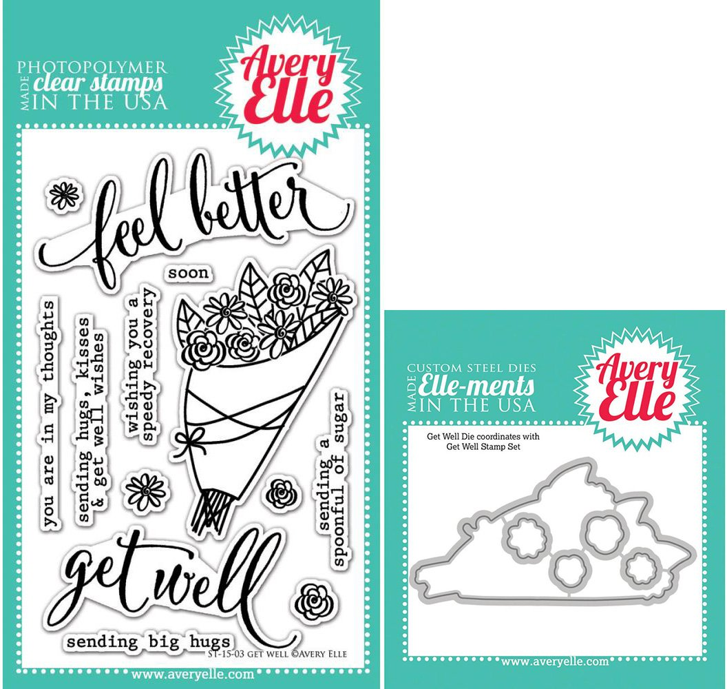 Amazon.com: Avery Elle Get Well Stamps and Elle-ments Dies Bundle ...