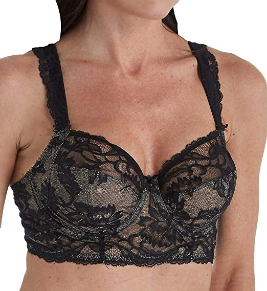 cd8a746c7e Fantasie Women s Bronte Longline Side Support Plunge Underwire Bra   Amazon.co.uk  Clothing