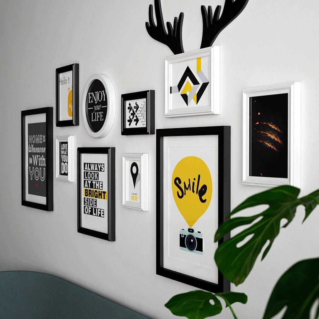 WANGJUNAI Hanging Photo Display, Wooden Hanging Picture Display Stand, Wall-Mounted Movie Storage Box, 15883CM (Color : B) by WANGJUNAI