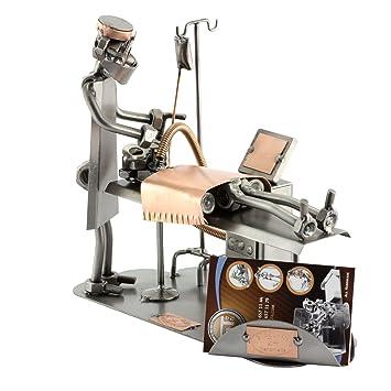 Steelman24 I Figurine En Metal Anesthesiste Avec Porte Cartes De Visite Plaque Gravure