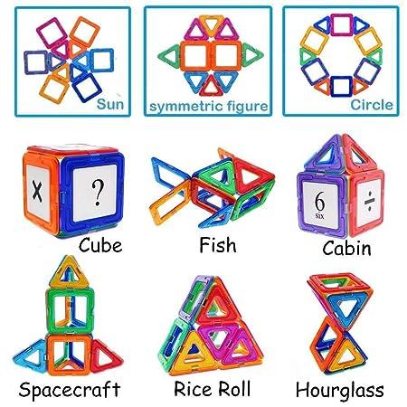 Amazon com: 114Pcs Magnetic Building Blocks Toys, Educational STEM