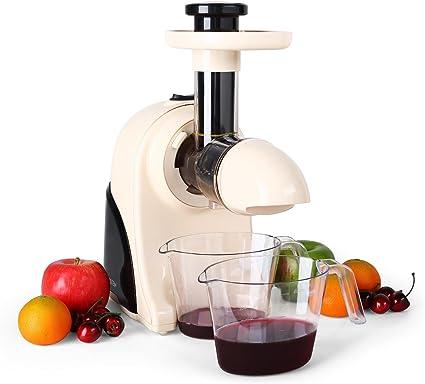 Klarstein Fruitpresso Moreno Licuadora (150 W, 80 Rpm, Licuado en Frio, Desmontable, Separador de Pulpa) - Crema: Amazon.es: Hogar