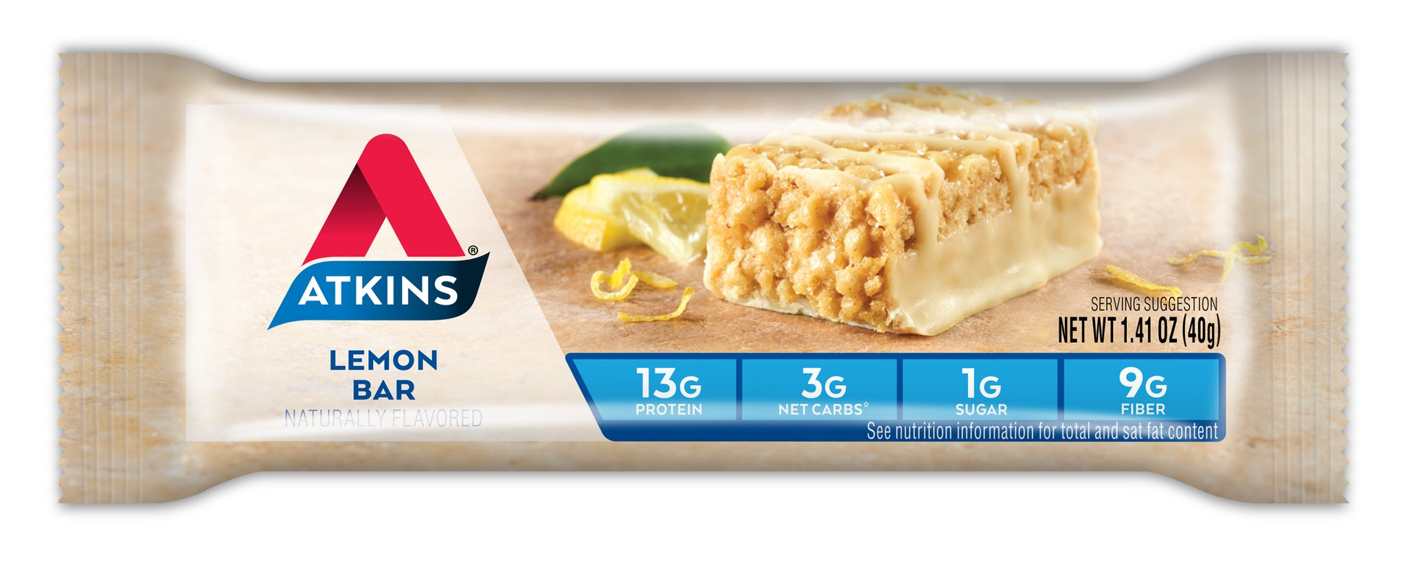 Atkins Gluten Free Snack Bar, Lemon Bar, 5 Count (Pack of 6) by Atkins (Image #2)