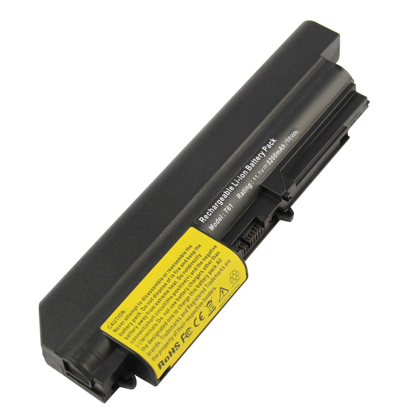 Bateria 6 Celdas Para Ibm/lenovo 42t4533 42t4652 43r2499 Thinkpad R400 T400 Thinkpad Widescreen R61i T61p Thinkpad Wides