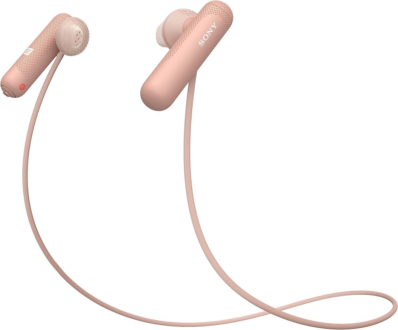 Sony WI-SP500P - Auriculares Deportivos Inalámbricos (con Bluetooth, Color Rosa), Talla Única